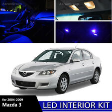 7PCS Blue Interior LED Light for 2004 - 2009 Mazda 3 Mazda3 White for License
