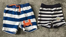 Baby Boy Shorts Bundle 3-6 Months Swimming Shorts Trunks Summer Mothercare