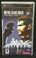 Metal Gear Solid Ops Plus - Sony PSP 2 Game Playstation Portable Tested Complete