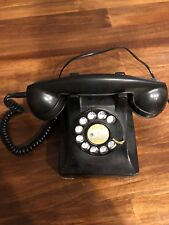 Vintage Black Western Electric 302 Rotary Dial Telephone ~ Works