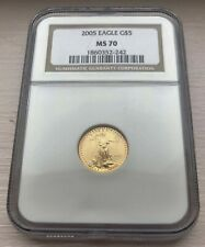 2005 $5 AMERICAN GOLD EAGLE 1/10 OZ NGC MS70!  BEST PRICES ON EBAY!