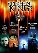 NEW DVD - STEPHEN KING - DEAD ZONE +PET SEMETARY  SILVER BULLET +GRAVEYARD SHIFT