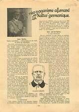 Berlin Paganism General Erich Ludendorff Hitlerputsch Germany 1937 ILLUSTRATION