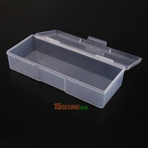 Nail Art Brushes Storage Container Jewelry Holder Box Home Kitchen Clear Tools