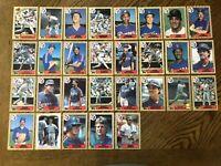 1987 TEXAS RANGERS Topps COMPLETE Baseball Card Team Set 29 Cards SIERRA HOUGH!