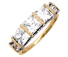 Women's 5.0 ct Simulated Diamond Engagement Ring in 14k Solid Yellow Gold