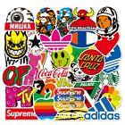 100 PCS cool brand sticker stickers Vinyl Skateboard  Luggage Pack Logo Decals