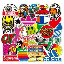 100 PCS cool brand sticker stickers Vinyl Skateboard  Luggage Pack Logo Decals
