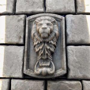 """Concrete Mold Kit Lions Head Mold Plus 20pcs 6""""x6"""" Tumbled Stone"""