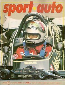 SPORT AUTO 199 1978 F1 GP ANGLETERRE GP FRANCE BMW 323i E21 F2 GP NOGARO & ROUEN