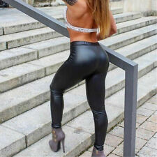 SEXY WET LOOK PVC SHINY BLACK LEGGINGS 24 26 PLUS SIZE XXXXL PANTS CROSSDRESSER