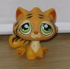Littlest Pet Shop #1267 2006 Game Tiger Orange with Green eyes & Black Stripes