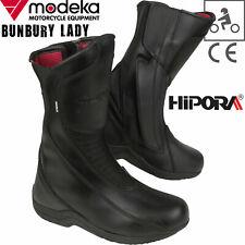 MODEKA Motorradstiefel BUNBURY LADY Damen Leder schwarz wasserdicht CE Hipora 38