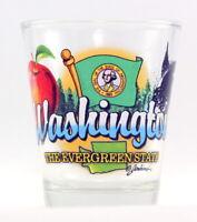 WASHINGTON EVERGREEN STATE ELEMENTS SHOT GLASS SHOTGLASS
