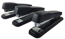 Clipco Stapler with 2000 Staples Full Desk Size Black (3-Pack)