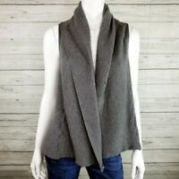 Alice+Olivia Gray Wool Sleeveless Knit Cardigan Sweater Women's X-Small