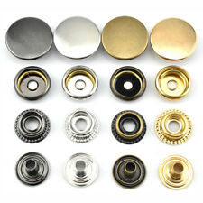 1Set Metal Snap Clasp Fasteners Press Stud Leather Craft Jacket Sewing Buttons
