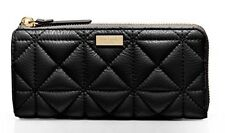 $228 KATE SPADE Whitaker Place Nisha Quilted Pebbled Leather Wallet BLACK