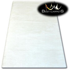 "AMAZING SOFT & THICK RUG SHAGGY ""MICRO"" Polyester White HIGH QUALITY carpets"