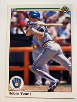 1990 Upper Deck Milwaukee Brewers Robin Yount #567 HOF Hall of Fame