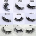 9 Styles Real 3D Mink False Eyelashes Thick Cross Long Lashes Extension