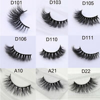 12 Styles Real 3D Mink False Eyelashes Thick Cross Long Lashes Extension