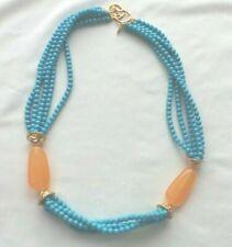 of Sim. Turquoise Bead Necklace Kenneth Lane Kjl Long 5 Strands