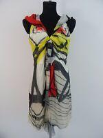 Christian Lacroix Luxus Drapiertes Kleid Cocktailkleid 100% Seide Fr.44 Dt.40-42