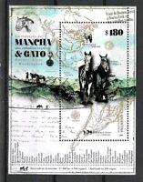ARGENTINA 2019 FAUNA,HORSES MAP MOUNTAINS S/SHEET MNH