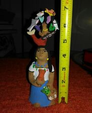 Mexican Folk Art signed Josefina Aguilar woman mermaid tree of life EXCELLENT