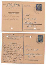 1952 GERMANY 2 Covers OSTSEEBAD KÜHLUNGSBORN - DRESDEN Stationery Postcards DDR