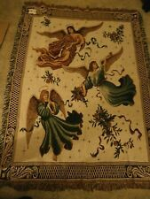 Angels on High  Angel Tapestry Afghan Throw NWT 65 X 50