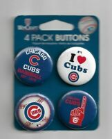 WinCraft Chicago Cubs Licensed 4 Pack Buttons Souvenirs NEW