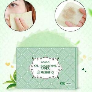100pcs Oil Control Absorption Film Tissue Makeup Paper top O7E7 O6Y9 B0P0