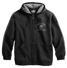 Men's Harley Davidson Hooded Grey Skull Sweatshirt 99107-18VM