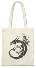 Tribal Chinese Dragon I Shopper Shopping Bag China Symbol Sign Tattoo Knot