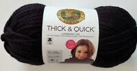 Lion Brand Yarns Thick & Quick  223 yards 12 oz. 6-Super Bulky Black
