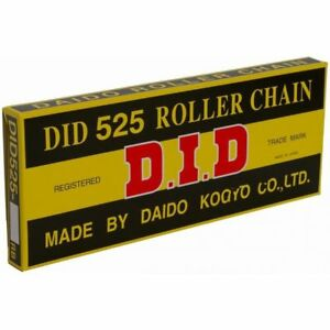 DID 525-108 Grey Roller Non O-Ring Chain Supplied With Spring Link 525 108