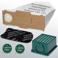 10 Filtertüten + Filter passend für Vorwerk Kobold 131 mit EB 351, Staubbeutel