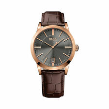 HUGO BOSS Quartz (Battery) Round Watches with 12-Hour Dial