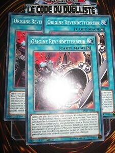 YU-GI-OH! COM ORIGINE REVENDETERREUR X3 (PLAYSET) COTD-FR084 NEUF EDITION 1