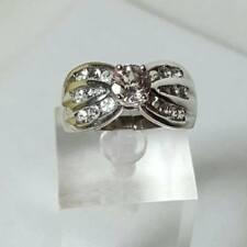 HSN-Pink Morganite-White Topaz 925 Sterling Ring Size 8