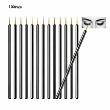 100pcs Disposable Eyeliner Brushes With Covers On the Hair Beauty Makeup Tools