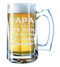 Giant Beer Mug 28 Ounces Beer Stein - Papa The Myth The Man The Legend