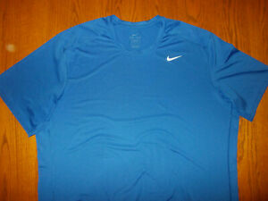 NIKE DRI-FIT SHORT SLEEVE BLUE FITTED ATHLETIC T-SHIRT MENS 3XLT EXCELLENT COND