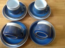 Langley / Denby Chatsworth Pattern 4 Coffee / Tea Cups, 4 Saucers,4 Side Plates
