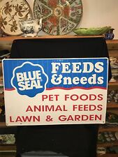 """36"""" Blue Seal Feeds Sign"""