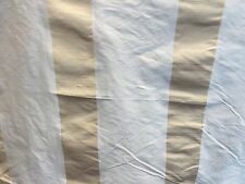 "DUPION SILK CURTAIN FABRIC CREAM WITH GOLD STRIPE 54"" WIDE BY THE METRE"
