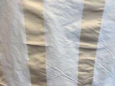 """Tissu soie dupion rideau crème avec bande dorée 54 """"de large au mètre"""