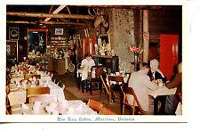 Interior-Log Cabin Restaurant-Macedon-Victoria-Australia-Vintage Adv Postcard
